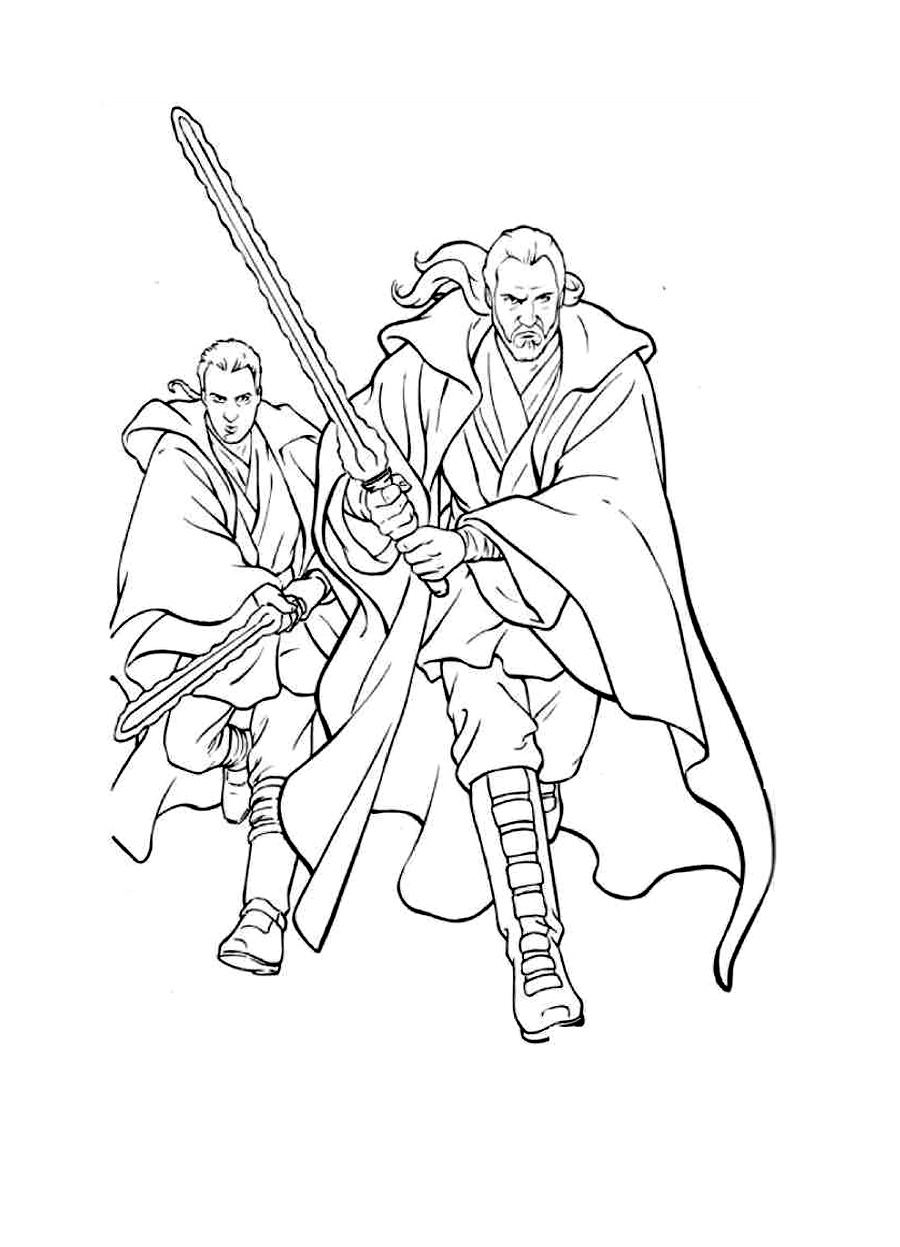 Qui Gon Star Wars Coloring Pages