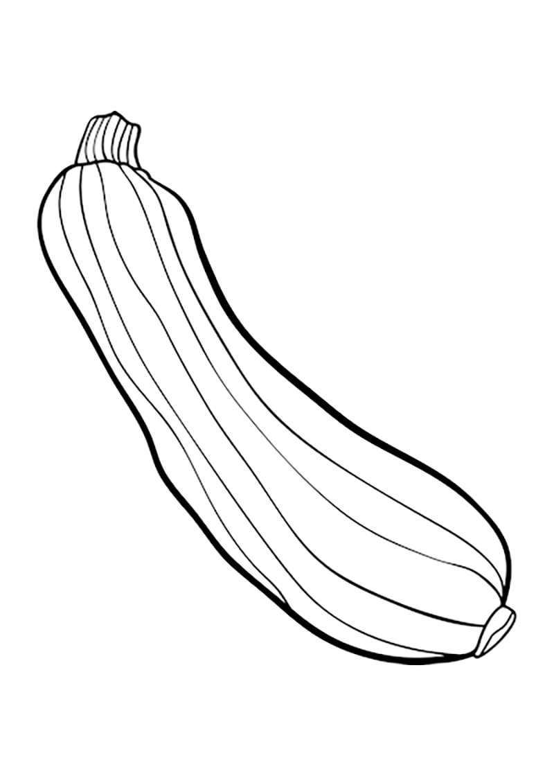 Simple Zucchini Coloring Page