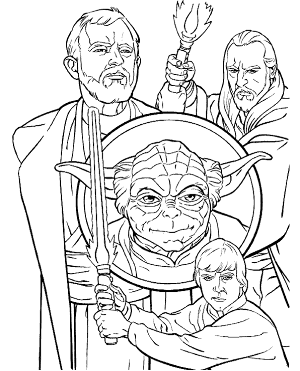 Star Wars Character Coloring Pages