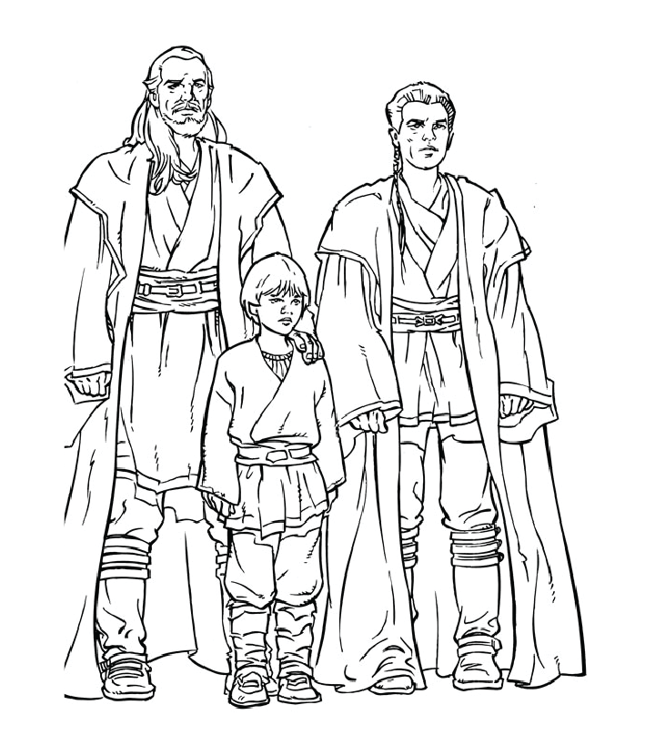 Star Wars Qui Gon Coloring Pages
