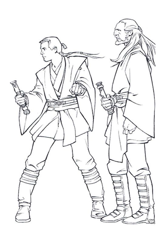 Star Wars Qui Gon Jinn Coloring Pages