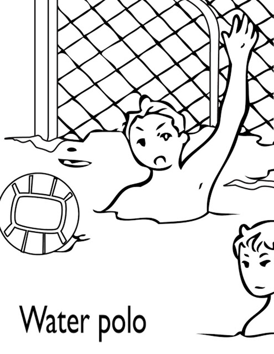 Water Polo Coloring Pages