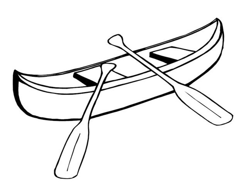Water Sports Canoe Coloring Page