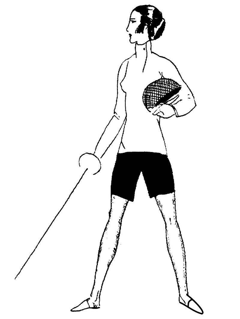 Woman Fencer Coloring Page