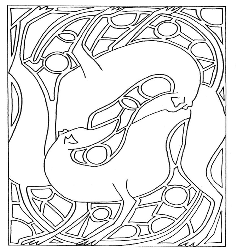 Abstract Greyhound Coloring Page