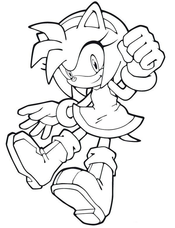 Amy Rose Coloring Page