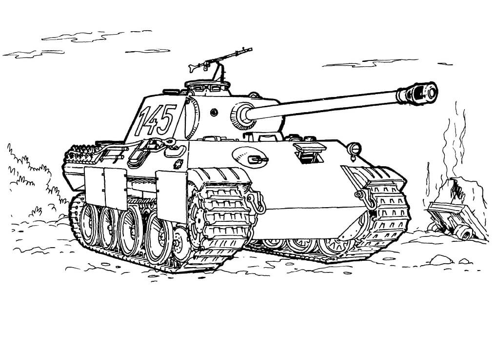 Army Tank Printable Coloring Pages