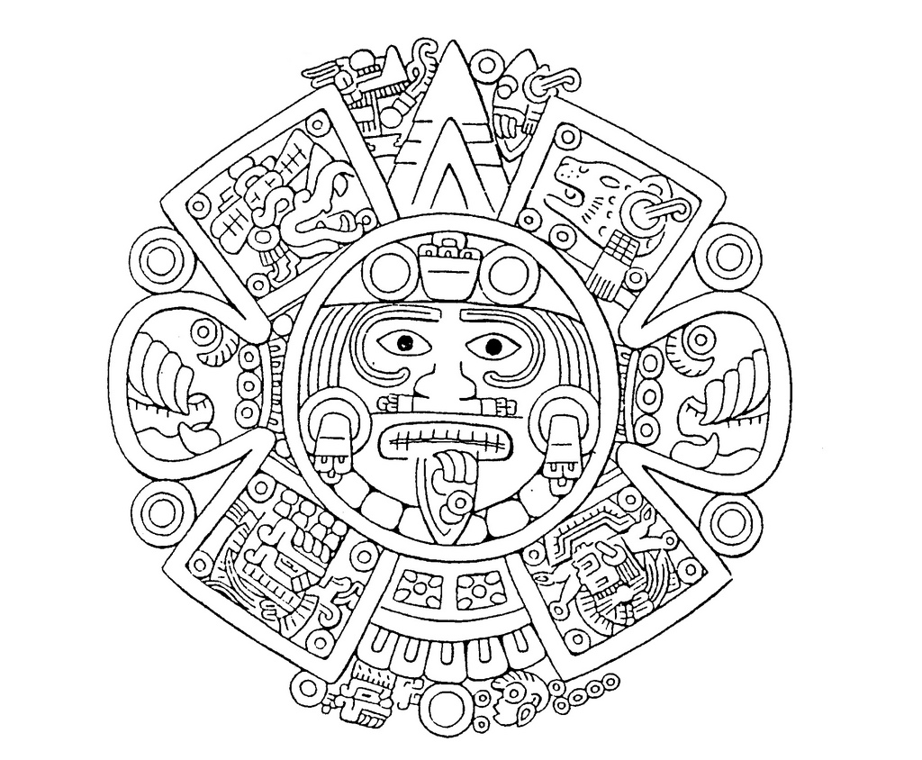 Aztec Drawing Coloring Pages