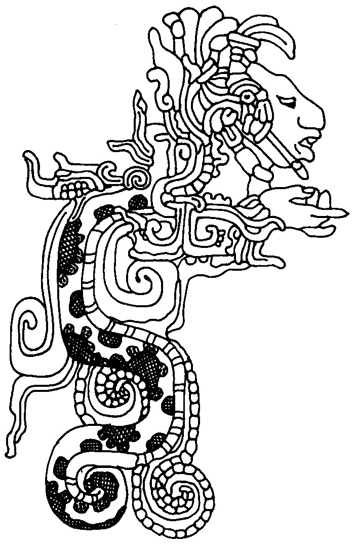 Aztec Drawing Printable Coloring Pages