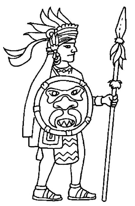 Aztec Man Coloring Page
