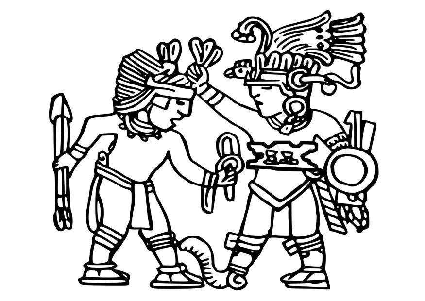 Aztecs Coloring Pages