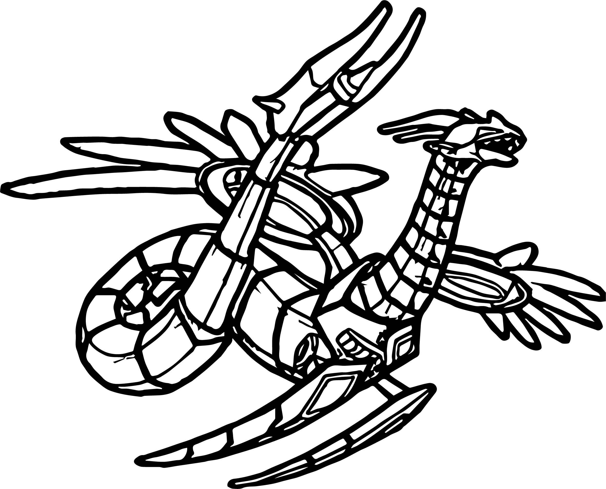 Bakugan Dragon Coloring Page