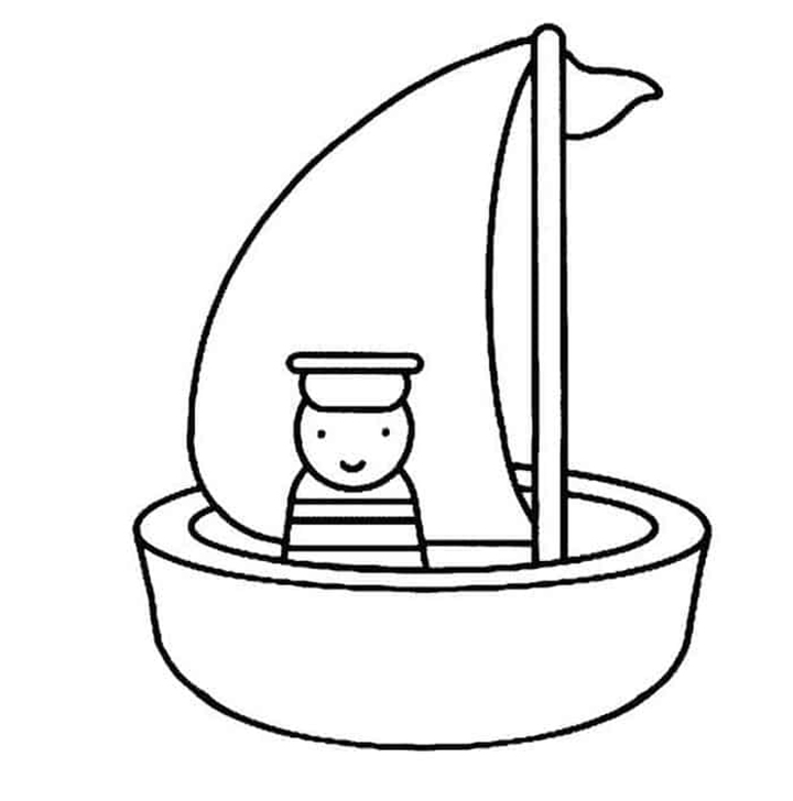 Cartoon Sailor Coloring Pages