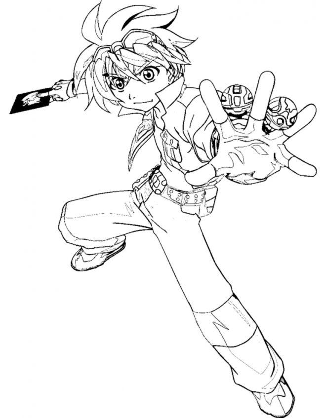 Dan Kuso Bakugan Coloring Page