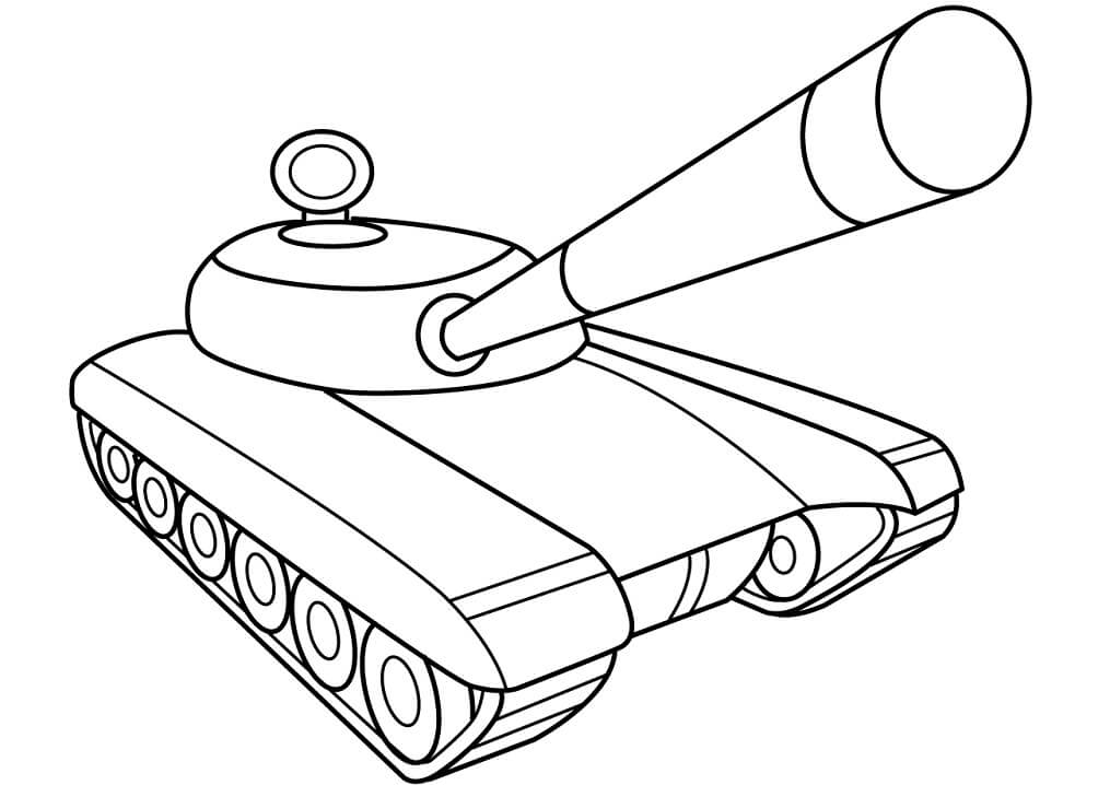 Easy Army Tank Coloring Page