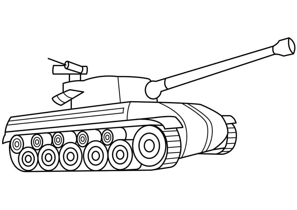 Easy Tank Coloring Page