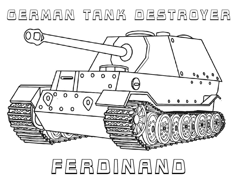 German Army Tank Coloring Pages