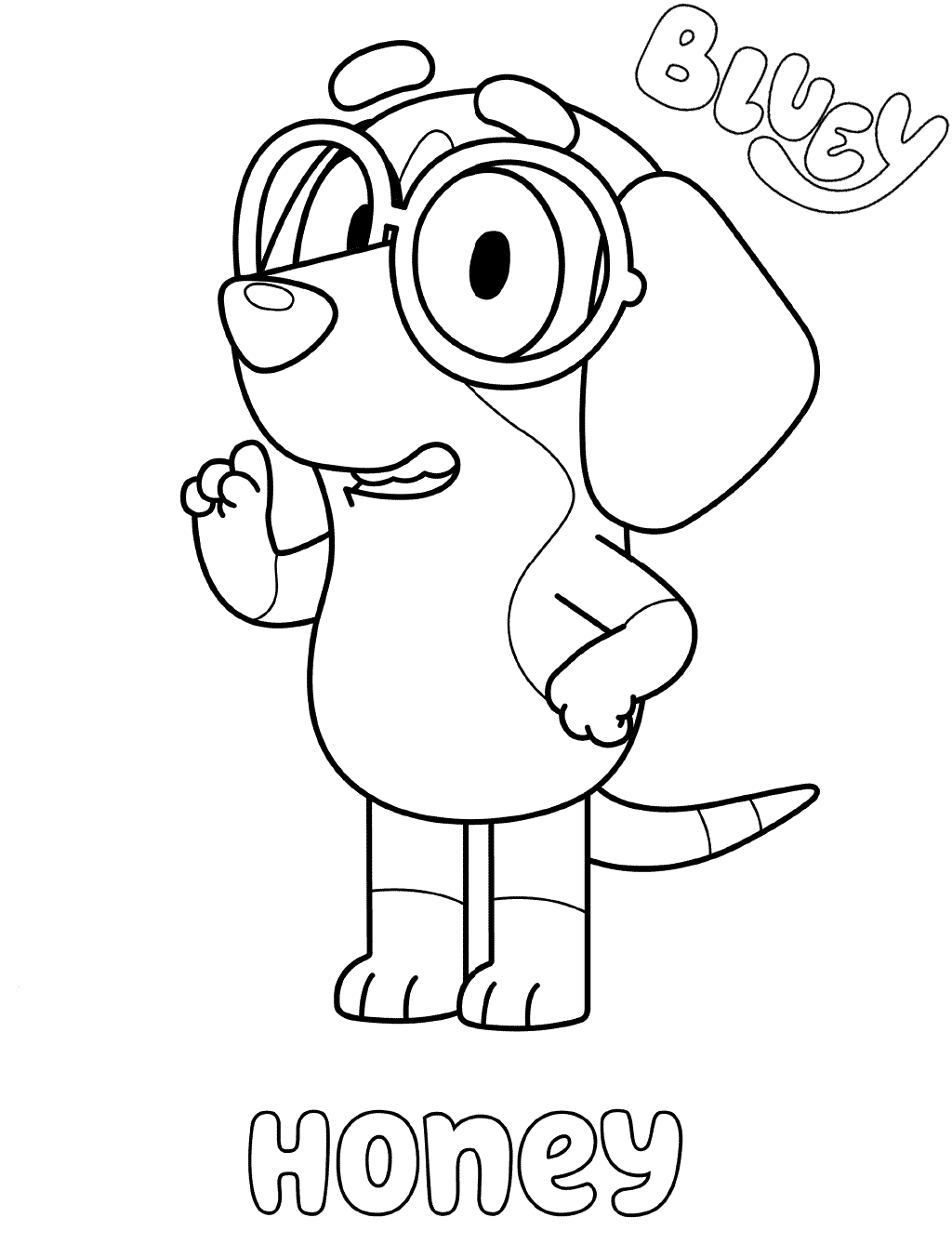 Honey Bluey Coloring Pages
