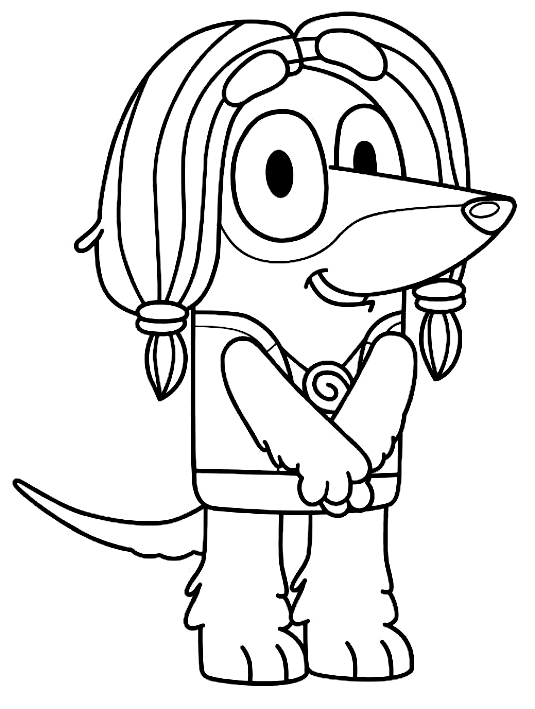 Indy Bluey Coloring Pages