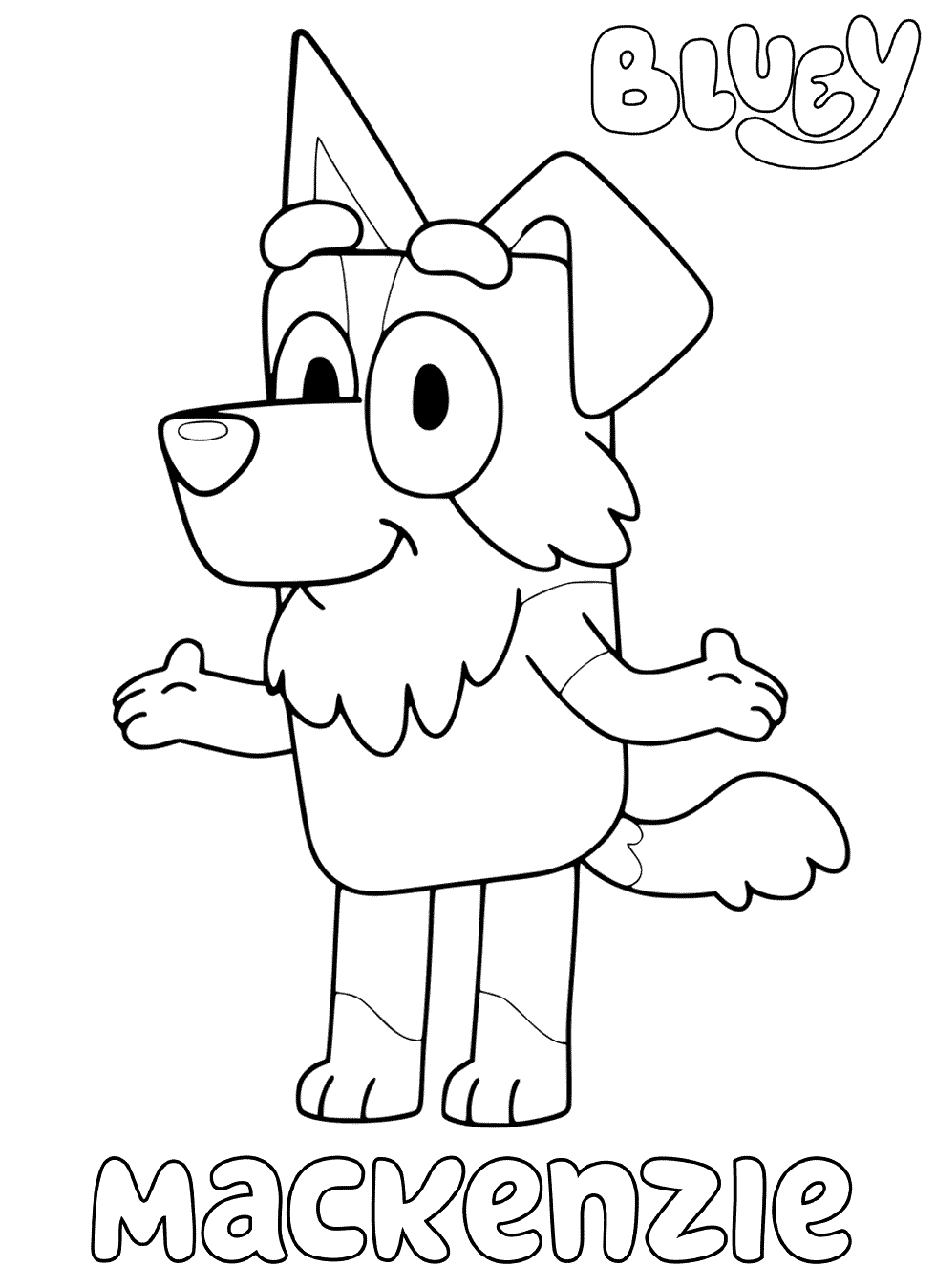 Mackenzie Bluey Coloring Pages