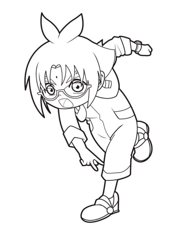 Marucho Marukura Bakugan Coloring Page