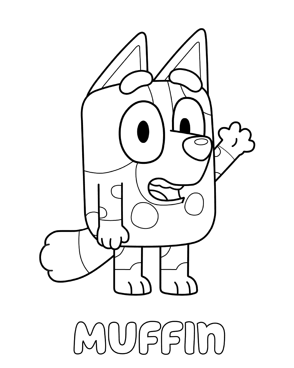 Muffin Bluey Coloring Pages