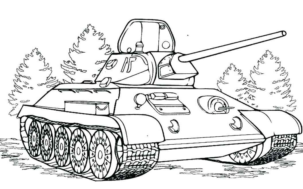 Printable Army Tank Coloring Pages