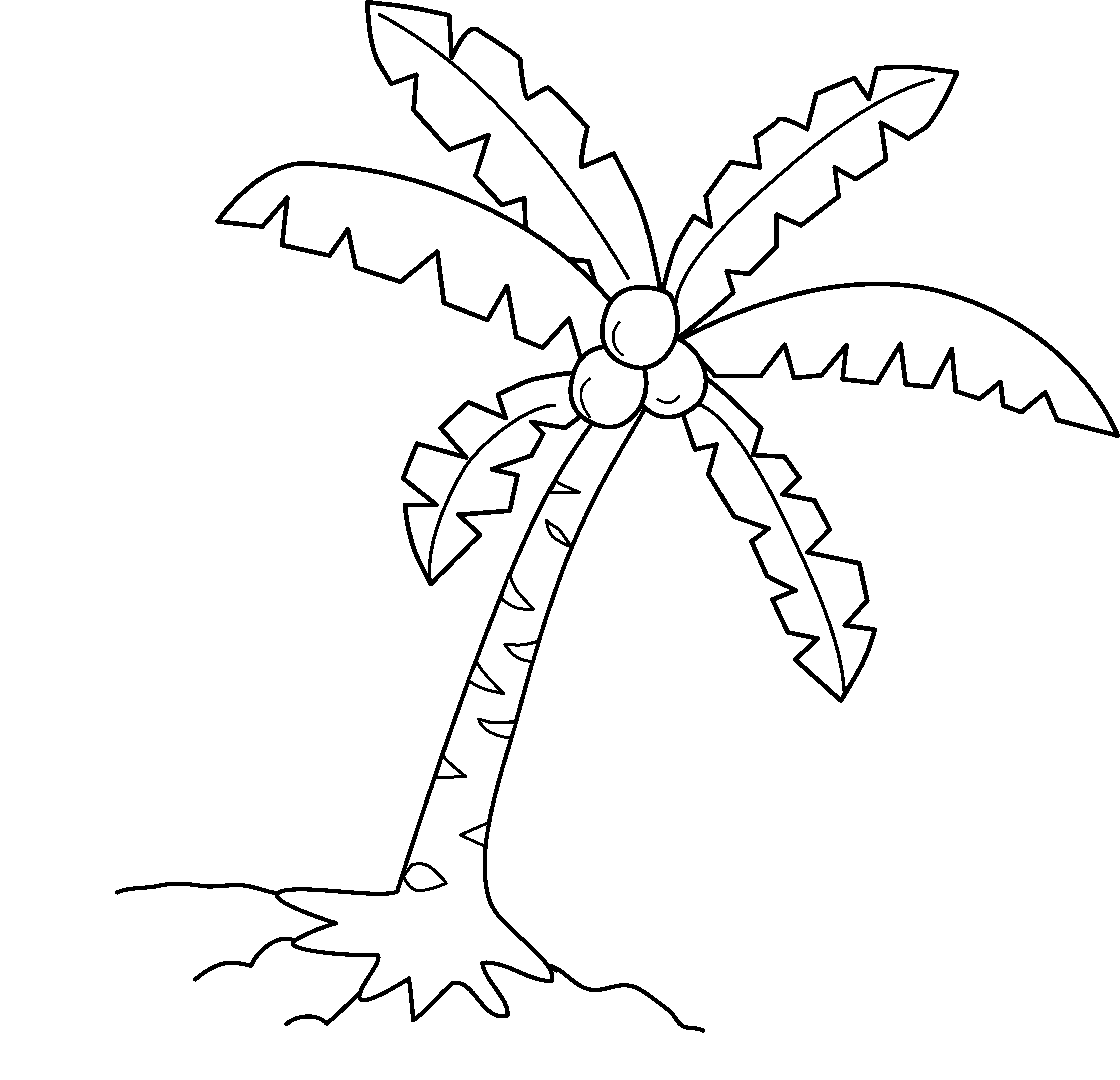 Printable Coconut Tree Coloring Pages