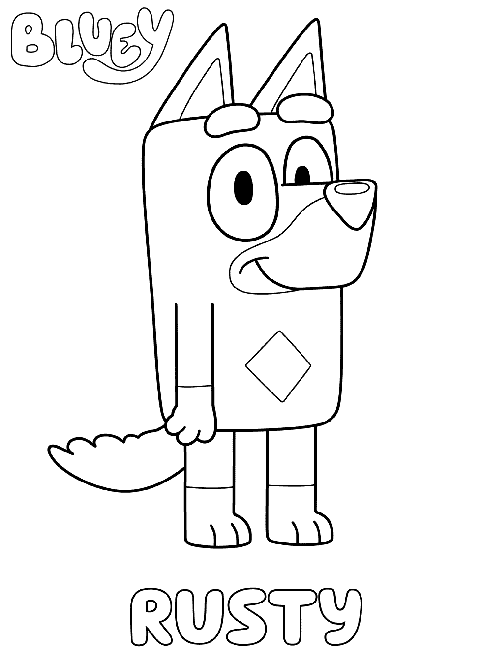Rusty Bluey Coloring Pages