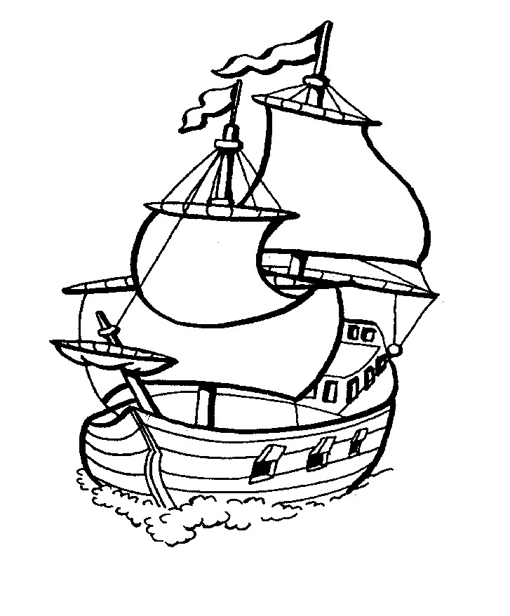 Sailing Coloring Pages