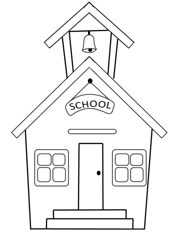 School House Coloring Sheet