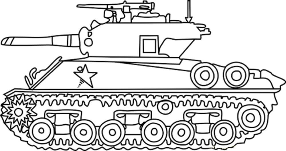 Sideview Army Tank Coloring Pages