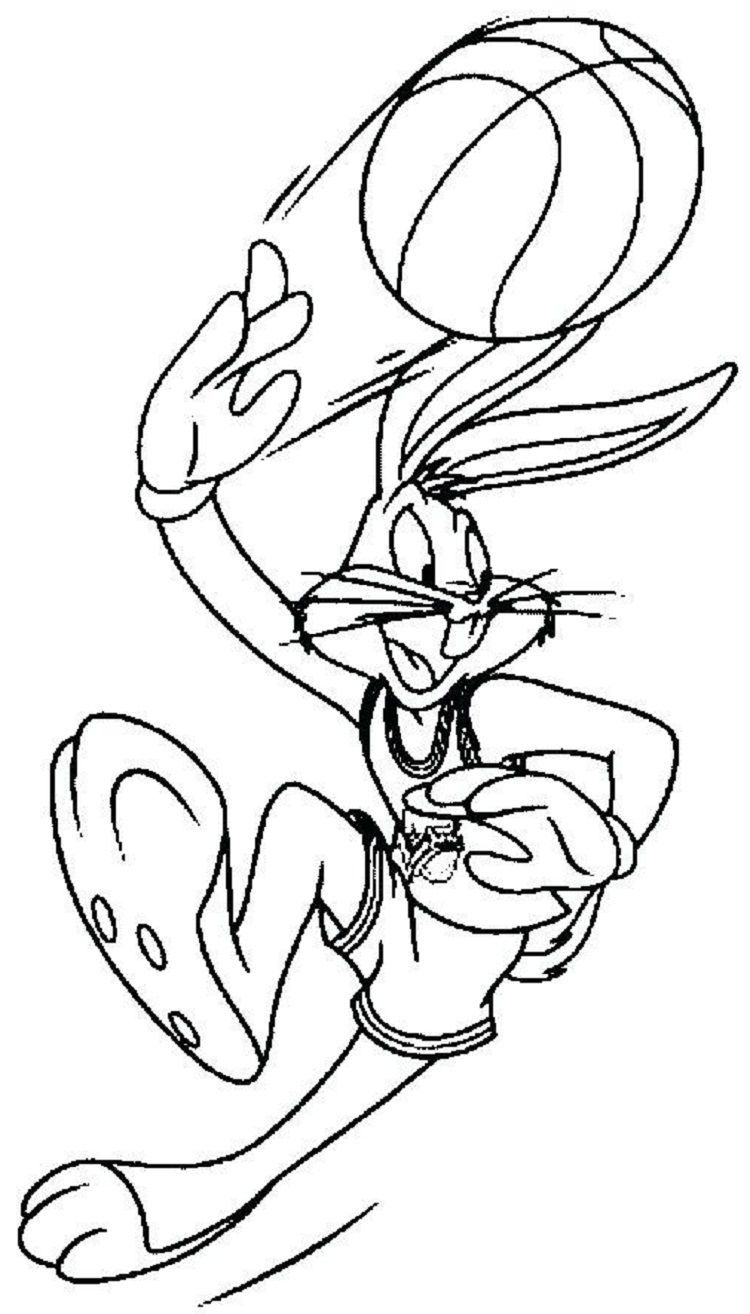 Space Jam Bugs Coloring Pages
