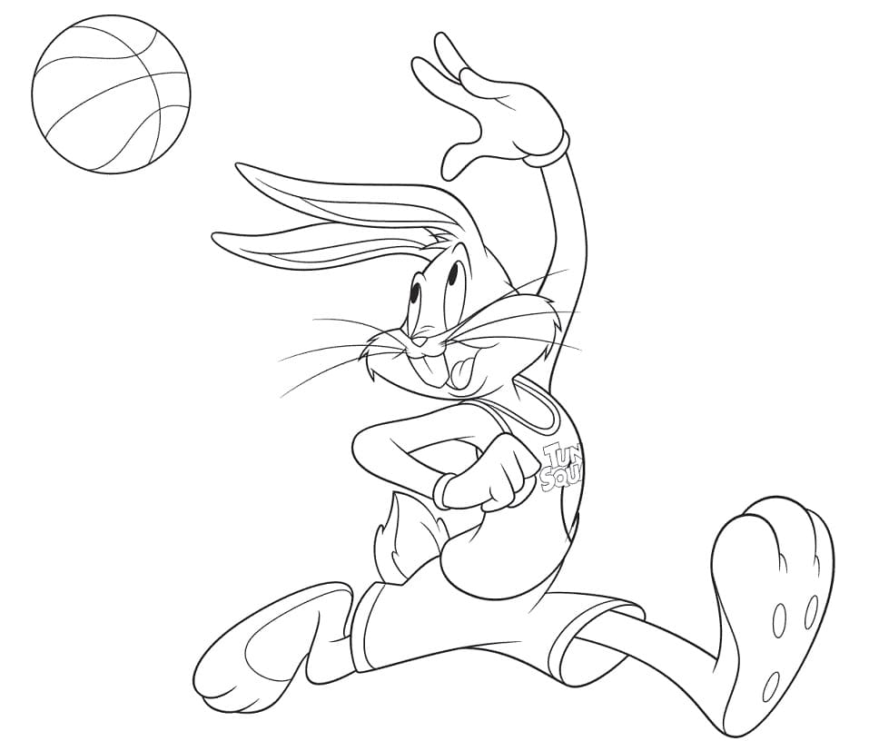 Space Jam Bugs Pass Coloring Pages