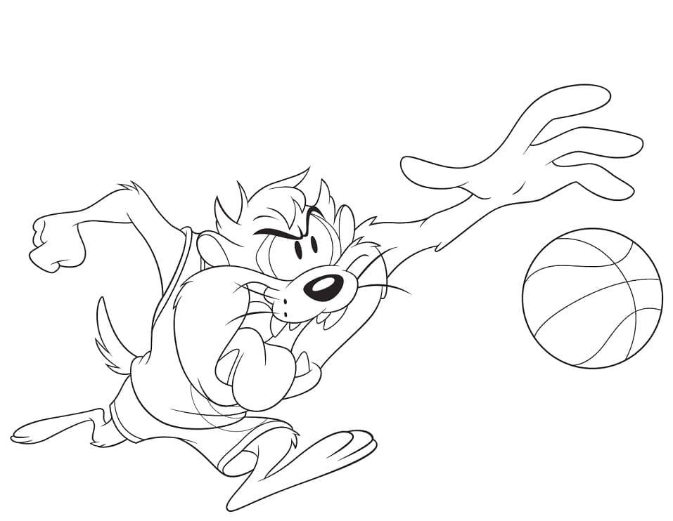 Space Jam Tasmanian Devil Coloring Pages