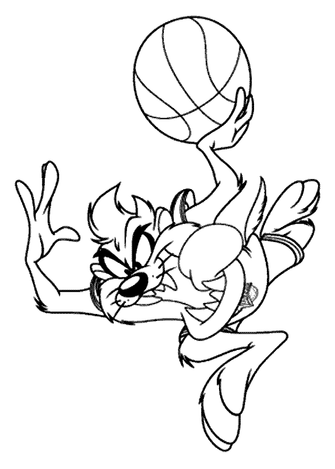 Space Jam Taz Coloring Pages