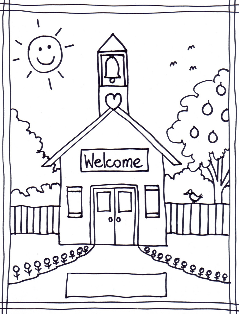 Welcome To School Coloring Page