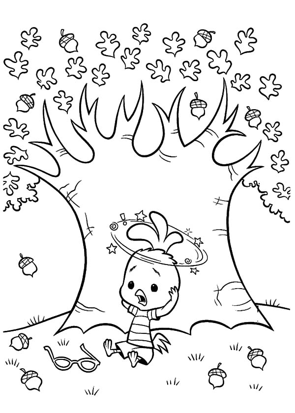 Acorn Tree Coloring Page