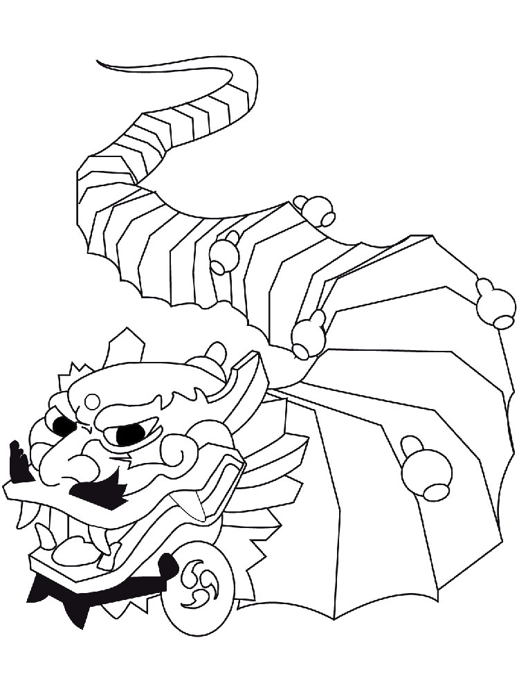 Asian Culture Dragon Coloring Page