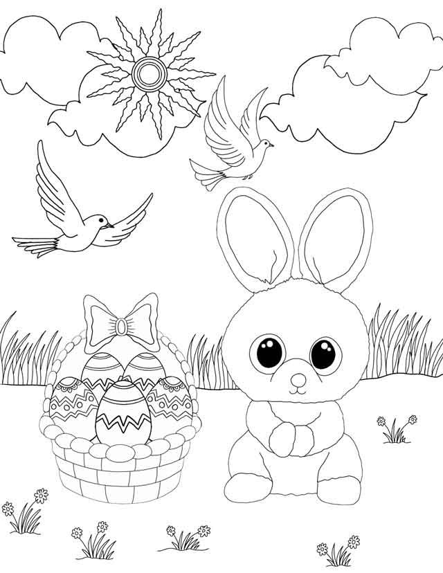 Beanie Boo Easter Coloring Pages