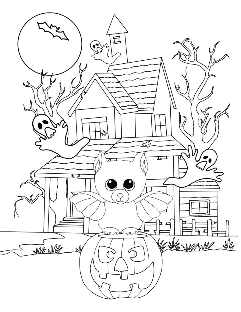 Beanie Boo Halloween Coloring Pages