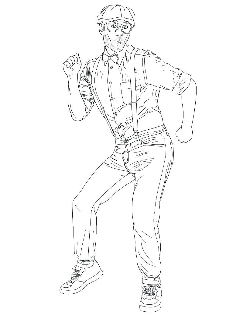 Blippi Dancing Coloring Pages