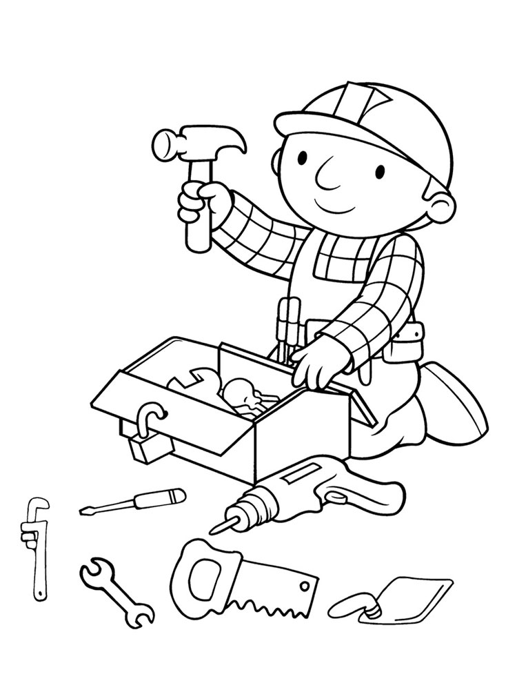 Bob The Builder Construction Coloring Page