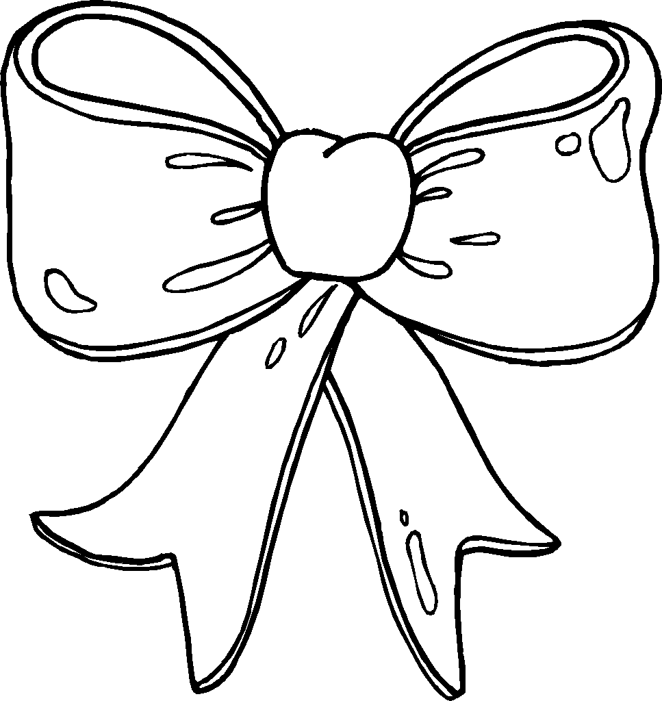 Bow Coloring Page