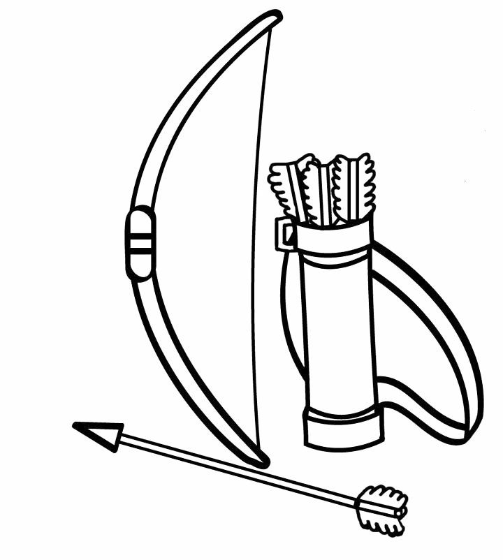 Bow And Arrows Coloring Page