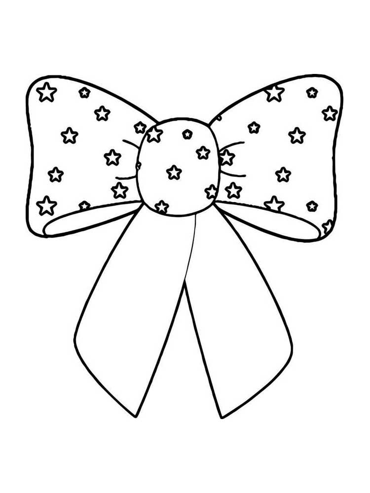 Bow With Stars Coloring Page