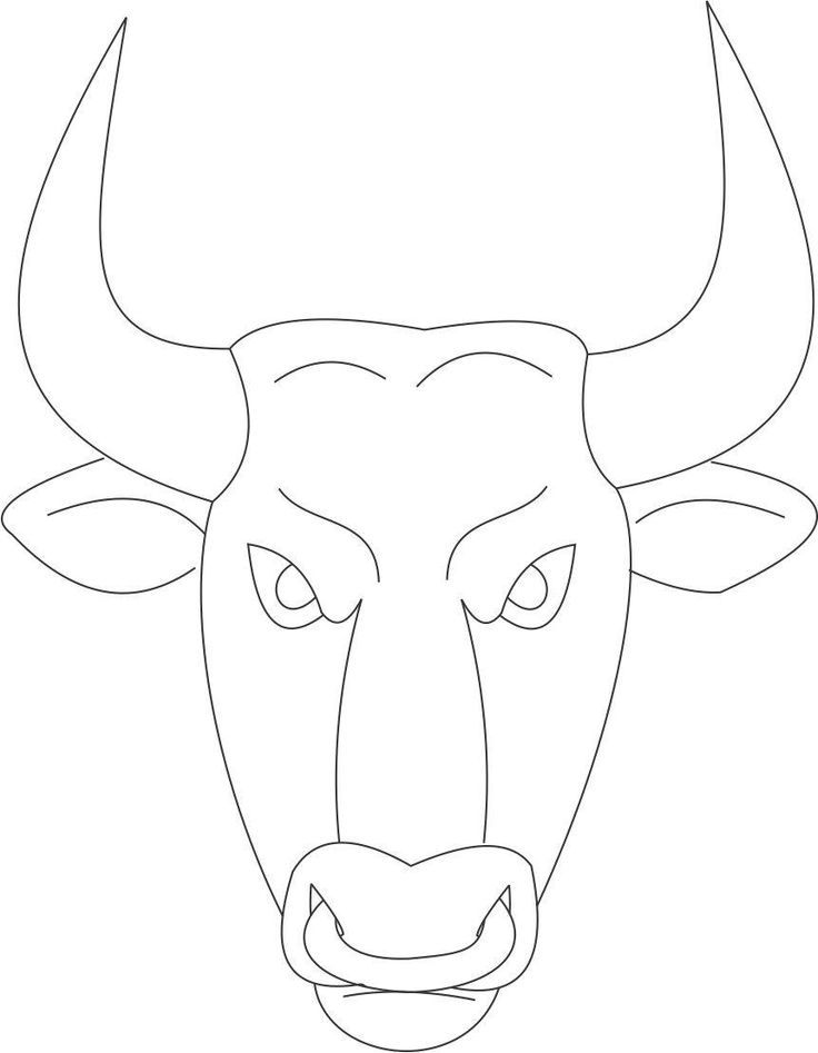 Bull Face Coloring Page