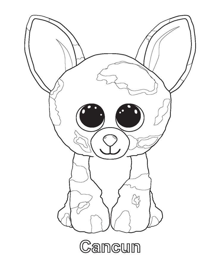 Cancun Beanie Boo Coloring Pages
