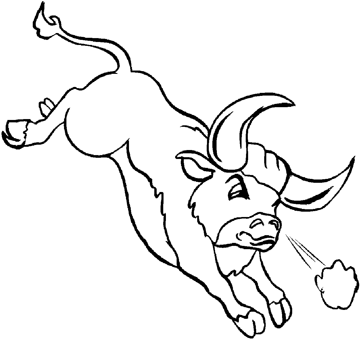 Charging Bull Coloring Page