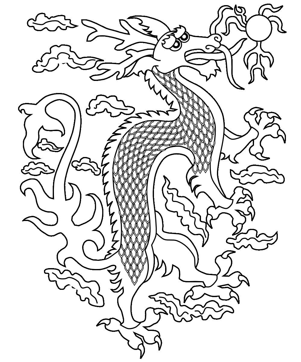 Chinese Dragon Coloring Page